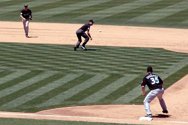 Funny ump position
