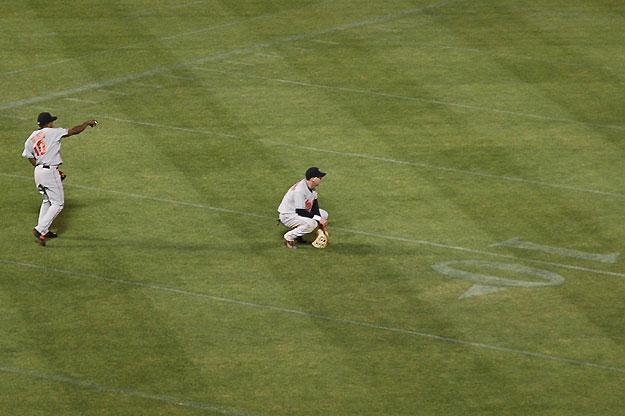 Baseball on a Football Field