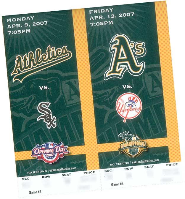 2007 tickets